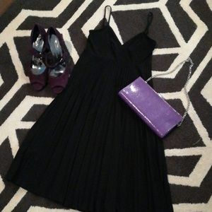 NWOT Max & Cleo accordion pleat dress